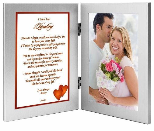 This Will Be A Special Birthday Gift For Husband Of Yours Silver Metal Photo Frame Contain 4 By 6 Inch You And Your