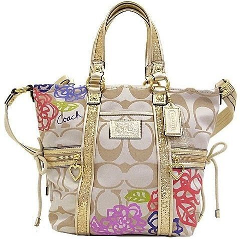 a380829e59f9 Looking for something stylish and funky accessory for a kitty party or any  small occasion! Get a coach new bags design decorated with prints and bow  which ...