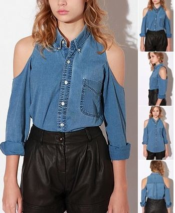 aa67322051 15 Exclusive Designer Denim Shirts for Women s in India ...