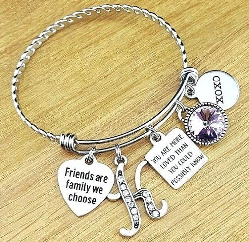 This Pretty Bracelet Is A Nice And Cute Birthday Gift For Friend Female Got Wonderful Charms With Lettering On Them
