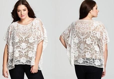 f862657419 Are you heavy in weight but still want an attractive look for occasions!  Bring ladies fashion tops design made from cotton and sheer.