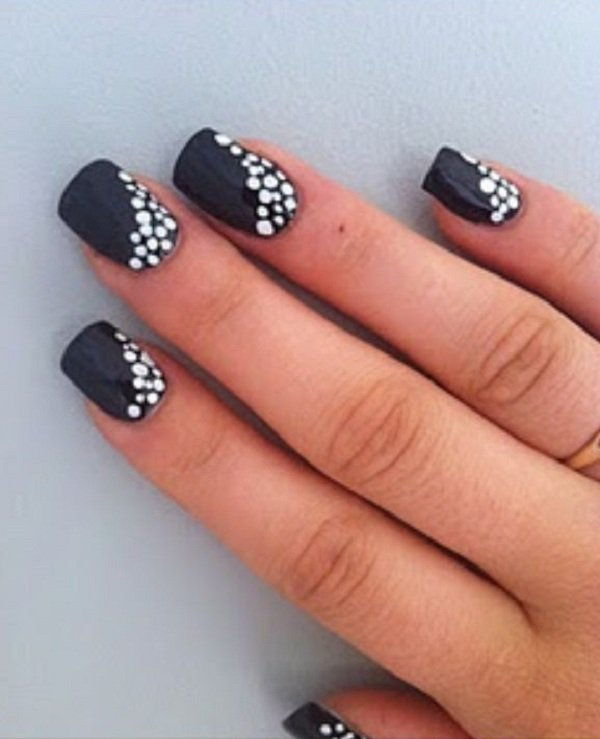 30 Adorable Polka Dots Nail Designs Recruit2network