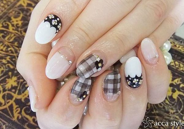35 Gingham And Plaid Nail Art Designs Recruit2network