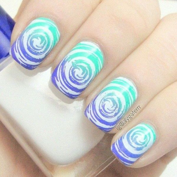 35 Water Marble Nail Art Designs Recruit2network
