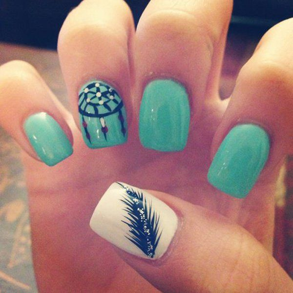 40 Examples Of Feather Nail Art Recruit2network