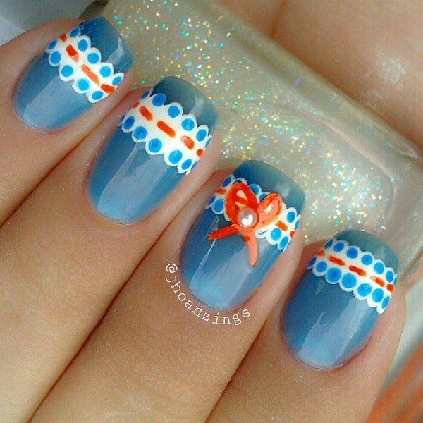 50 Blue Nail Art Designs Recruit2network