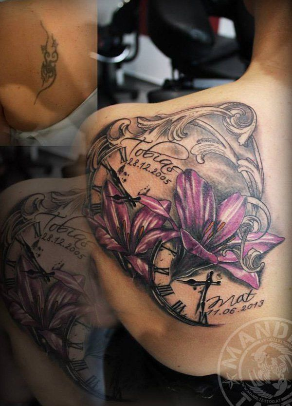 Lily cover up tattoo-31