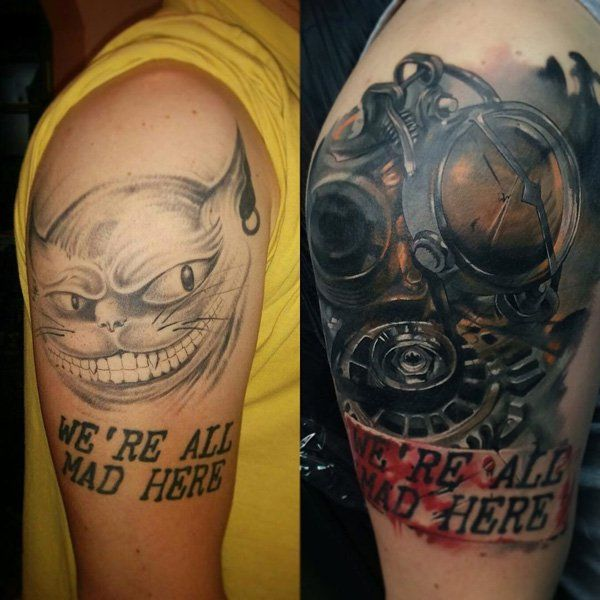Steampunk cover up tattoo-22