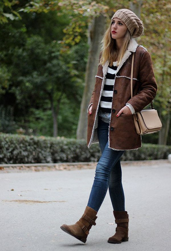 Dark-Brown-Outfit-with-Shearing-Jacket