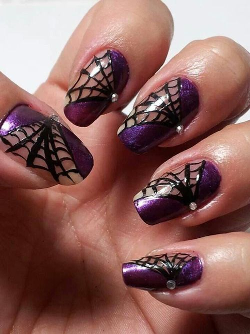 6 Best Spider Web Nail Art Designs | Styles At Life - 6 Best Spider Web Nail Art Designs Styles At Life
