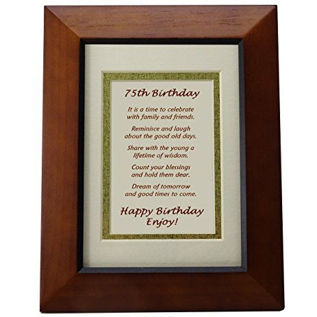 This Will One Of The Most Perfect 75th Birthday Gift Idea For Mom Yours It Can Hold A 4 By 6 Inch Photo And Light Walnut Frame Is Double Matted