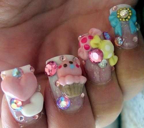 9 Cute Kawaii Nail Art Designs With Pictures Styles At Life
