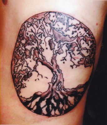 Salcie Tree Round Tattoo