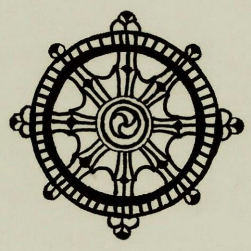Dharma wheel Round Tattoo