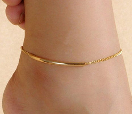 Simplu Gold Anklet for Women