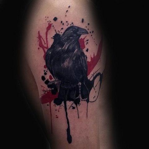 crow tattoo 48